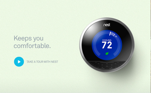 Screencap From The Nest Learning Thermostat Homepage