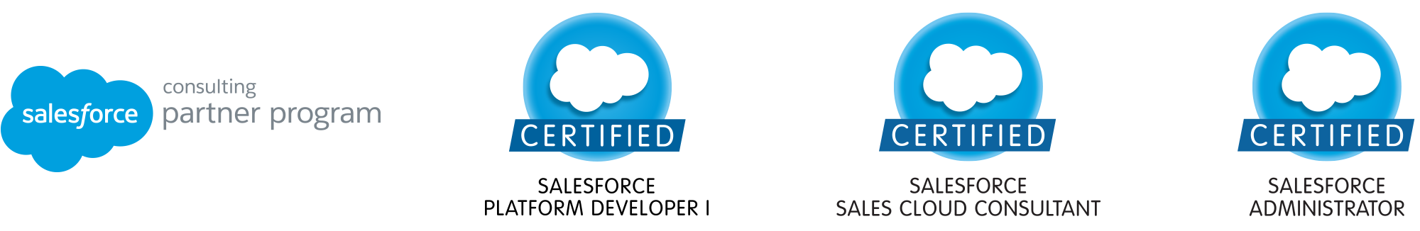 Salesforce Certified Sales Cloud Consultants, Administrators, Platform Developers and part of the Salesforce Consulting Partner Program