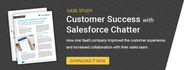 Case Study Customer Success with Salesforce Chatter