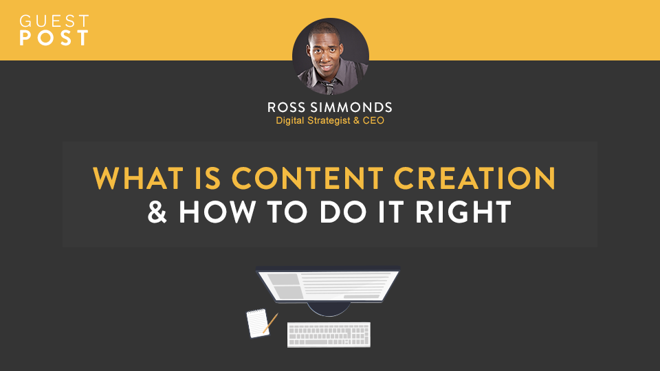 Ross Simmonds How to do content creation